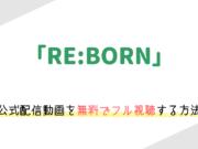 「RE:BORN」の動画配信を無料でフル視聴する方法。ネタバレありのレビューや感想も